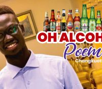 OH ALCOHOL 🍺! POEM BY CHANGKUOTH LUL LIEM A STUDENT FROM CATHOLIC UNIVERSITY